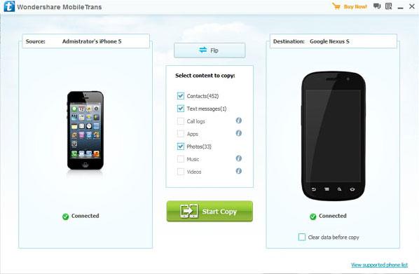 """Trasferire contatti da iPhone a cellulari Samsung """"manualmente"""""""